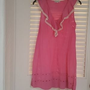 Pink sz small mudpie dress/beach cover up